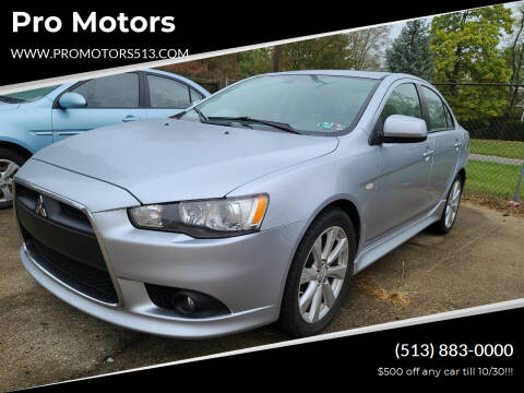 2013 Mitsubishi Lancer for sale at Pro Motors in Fairfield OH