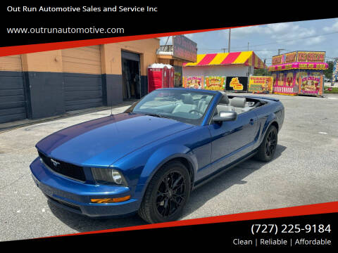 2008 Ford Mustang for sale at Out Run Automotive Sales and Service Inc in Tampa FL