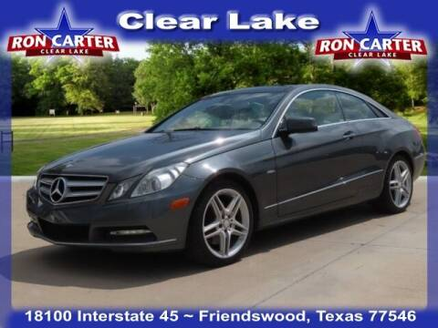 2012 Mercedes-Benz E-Class for sale at Ron Carter  Clear Lake Used Cars in Houston TX