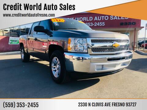 2013 Chevrolet Silverado 1500 for sale at Credit World Auto Sales in Fresno CA