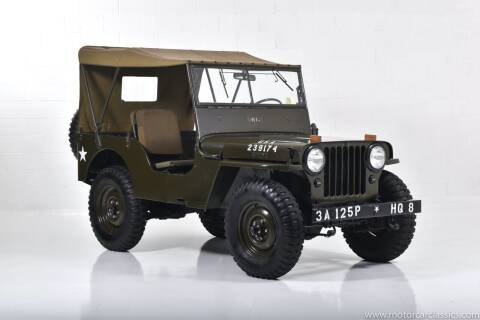 1946 Jeep Willys for sale at Motorcar Classics in Farmingdale NY