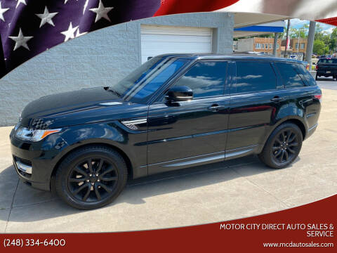 2017 Land Rover Range Rover Sport for sale at Motor City Direct Auto Sales & Service in Pontiac MI