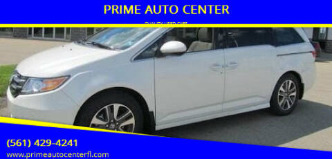2014 Honda Odyssey for sale at PRIME AUTO CENTER in Palm Springs FL