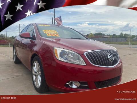 2012 Buick Verano for sale at A & D Auto Sales in Joplin MO