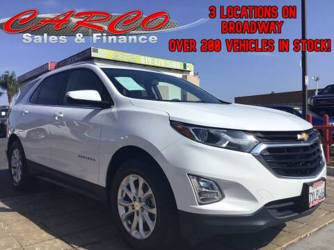 2018 Chevrolet Equinox for sale at CARCO SALES & FINANCE in Chula Vista CA