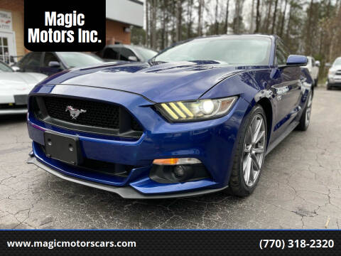 2015 Ford Mustang for sale at Magic Motors Inc. in Snellville GA