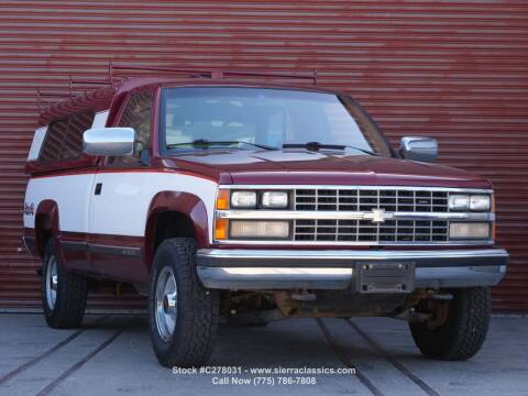 1989 Chevrolet C/K 3500 Series for sale at Sierra Classics & Imports in Reno NV