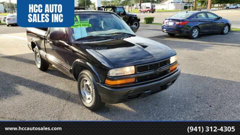 2001 Chevrolet S-10 for sale at HCC AUTO SALES INC in Sarasota FL