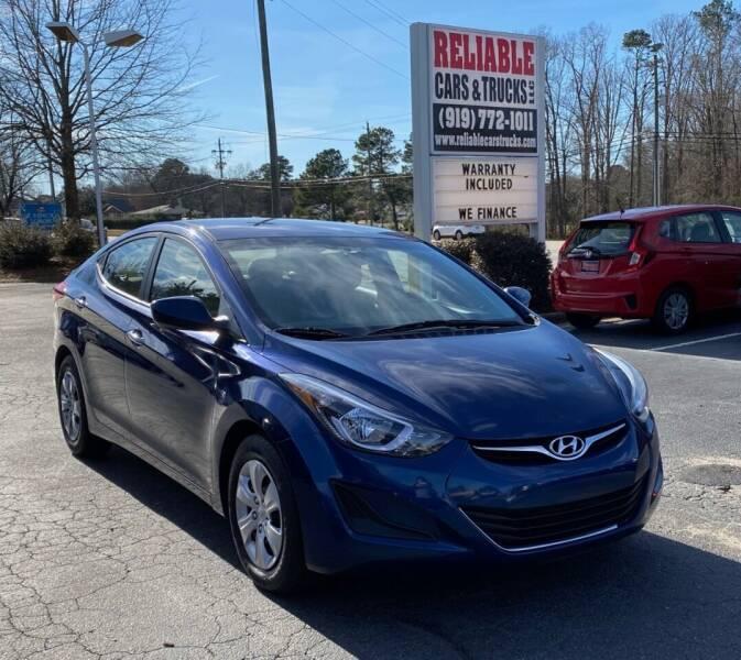 2016 Hyundai Elantra for sale at Reliable Cars & Trucks LLC in Raleigh NC