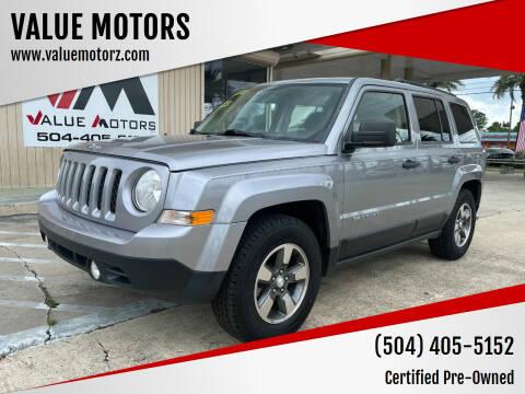 2015 Jeep Patriot for sale at VALUE MOTORS in Kenner LA