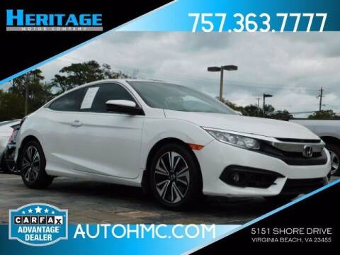 2017 Honda Civic for sale at Heritage Motor Company in Virginia Beach VA