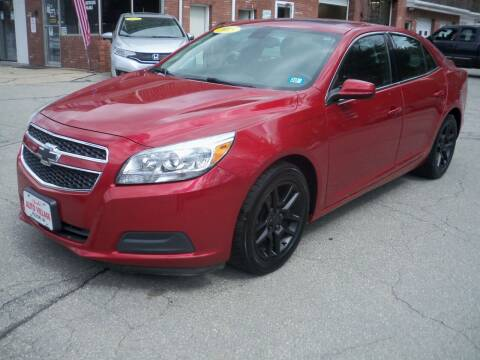 2013 Chevrolet Malibu for sale at Charlies Auto Village in Pelham NH