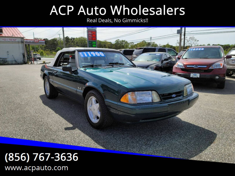1992 Ford Mustang for sale at ACP Auto Wholesalers in Berlin NJ
