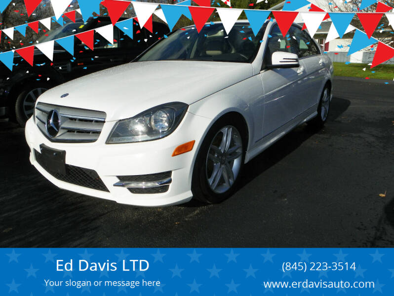 2013 Mercedes-Benz C-Class for sale at Ed Davis LTD in Poughquag NY