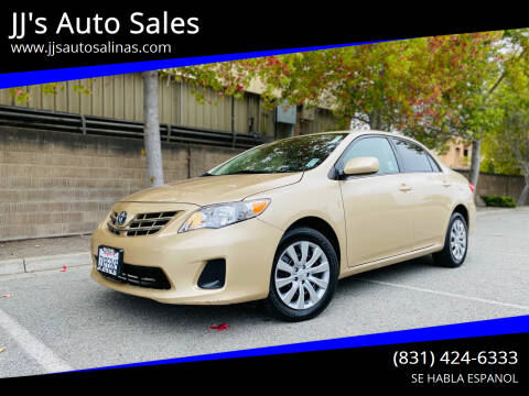 2013 Toyota Corolla for sale at JJ's Auto Sales in Salinas CA