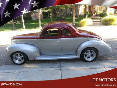 1940 Ford Deluxe for sale at LDT MOTORS in Amarillo TX