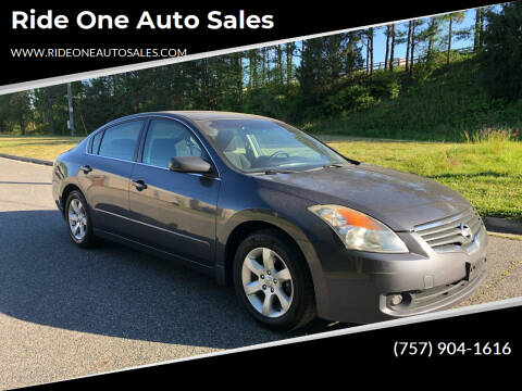 2008 Nissan Altima for sale at Ride One Auto Sales in Norfolk VA