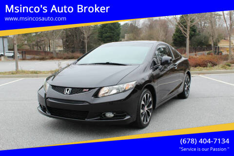 2013 Honda Civic for sale at Msinco's Auto Broker in Snellville GA
