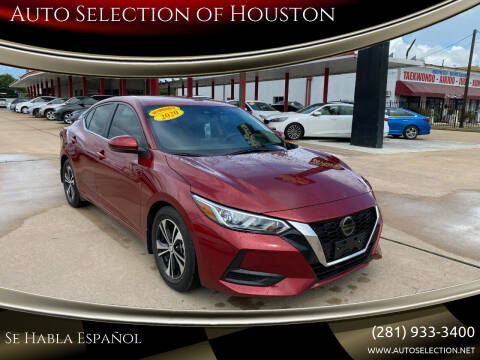 2020 Nissan Sentra for sale at Auto Selection of Houston in Houston TX