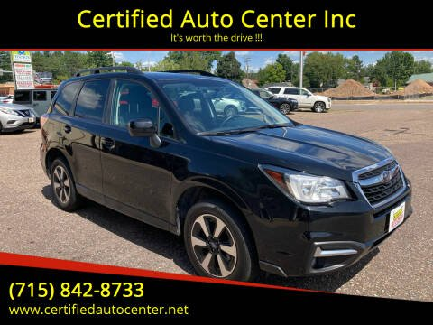 2018 Subaru Forester for sale at Certified Auto Center Inc in Wausau WI