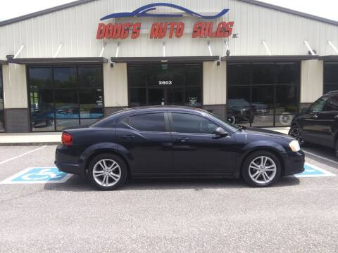 2012 Dodge Avenger for sale at DOUG'S AUTO SALES INC in Pleasant View TN