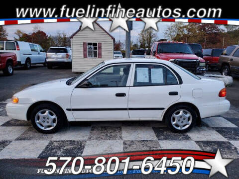 1999 Chevrolet Prizm for sale at FUELIN FINE AUTO SALES INC in Saylorsburg PA