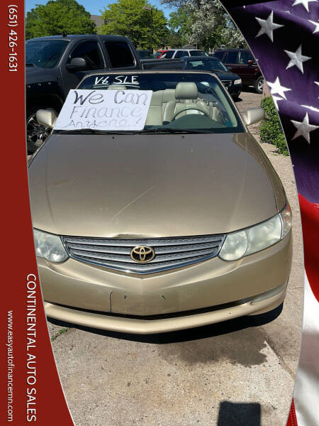 2002 Toyota Camry Solara for sale at Continental Auto Sales in White Bear Lake MN