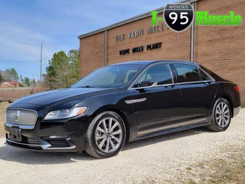 2018 Lincoln Continental for sale at I-95 Muscle in Hope Mills NC