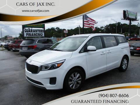 2017 Kia Sedona for sale at CARS OF JAX INC. in Jacksonville FL