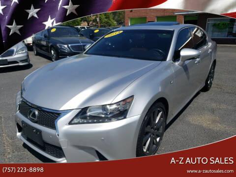 2013 Lexus GS 350 for sale at A-Z Auto Sales in Newport News VA