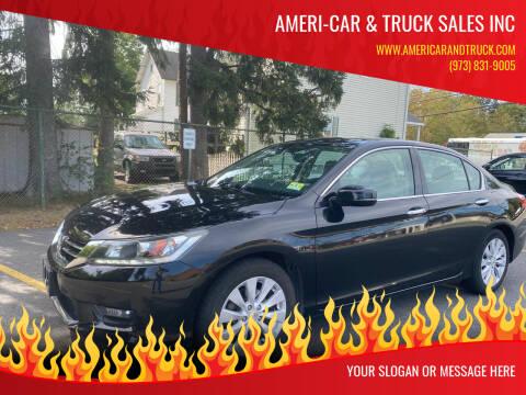 2014 Honda Accord for sale at AMERI-CAR & TRUCK SALES INC in Haskell NJ