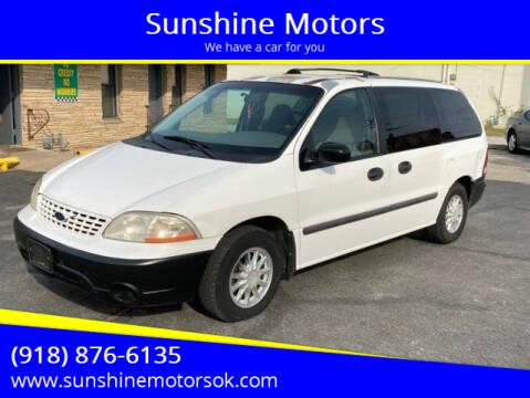 2001 Ford Windstar for sale at Sunshine Motors in Bartlesville OK