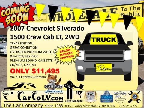 2007 Chevrolet Silverado 1500 for sale at The Car Company in Las Vegas NV