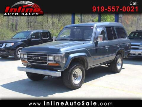 1989 Toyota Land Cruiser for sale at Inline Auto Sales in Fuquay Varina NC