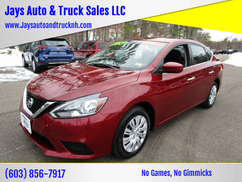 2016 Nissan Sentra for sale at Jays Auto & Truck Sales LLC in Loudon NH