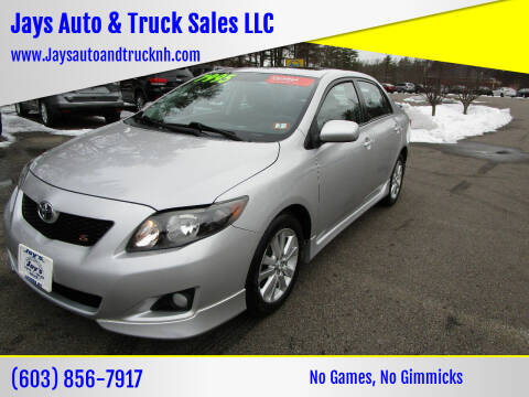 2010 Toyota Corolla for sale at Jays Auto & Truck Sales LLC in Loudon NH