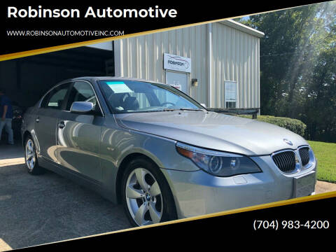 2006 BMW 5 Series for sale at Robinson Automotive in Albermarle NC