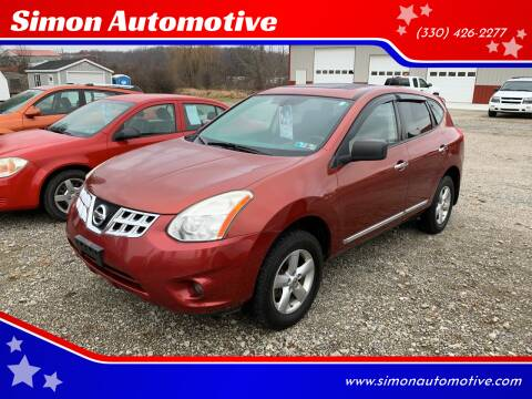 2012 Nissan Rogue for sale at Simon Automotive in East Palestine OH