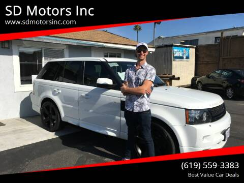 2012 Land Rover Range Rover Sport for sale at SD Motors Inc in La Mesa CA