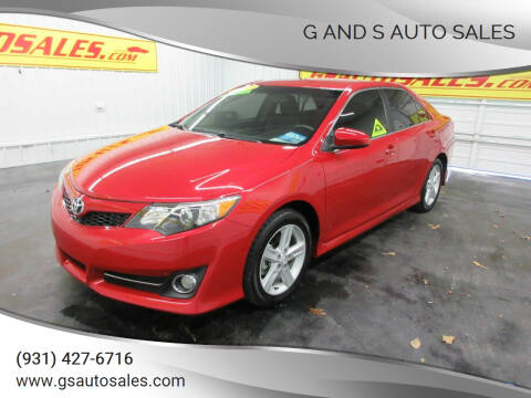 2012 Toyota Camry for sale at G and S Auto Sales in Ardmore TN