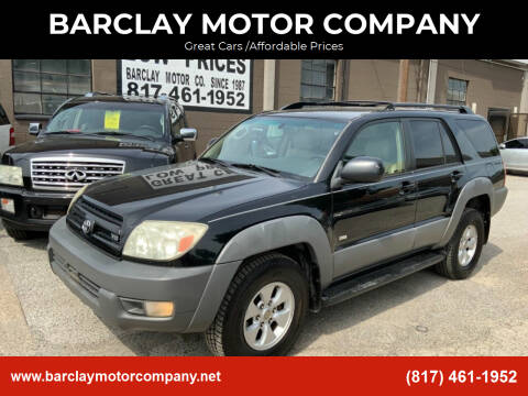 2003 Toyota 4Runner for sale at BARCLAY MOTOR COMPANY in Arlington TX