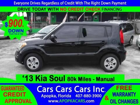 2013 Kia Soul for sale at CARS CARS CARS INC in Apopka FL