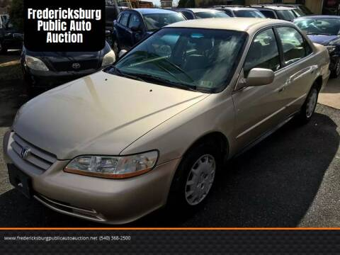2002 Honda Accord for sale at FPAA in Fredericksburg VA
