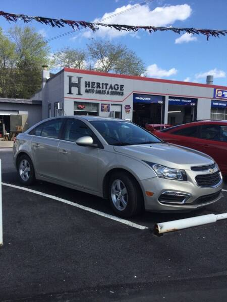 2015 Chevrolet Cruze for sale at Heritage Auto Sales in Reading PA
