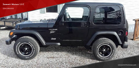 2000 Jeep Wrangler for sale at Summit Motors LLC in Morgantown WV