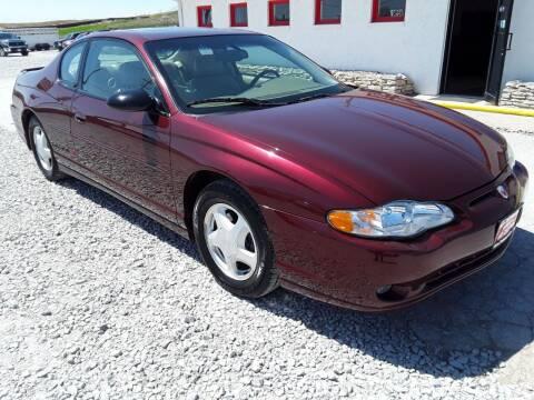 2002 Chevrolet Monte Carlo for sale at Sarpy County Motors in Springfield NE