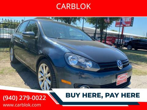2012 Volkswagen Golf for sale at CARBLOK in Lewisville TX