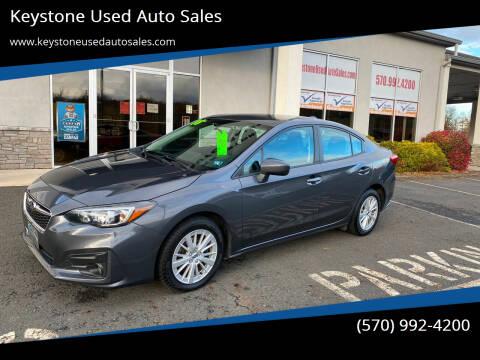 2018 Subaru Impreza for sale at Keystone Used Auto Sales in Brodheadsville PA