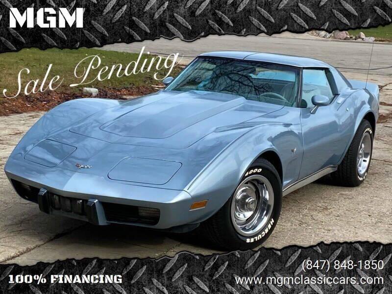 1977 Chevrolet Corvette for sale at MGM CLASSIC CARS in Addison IL