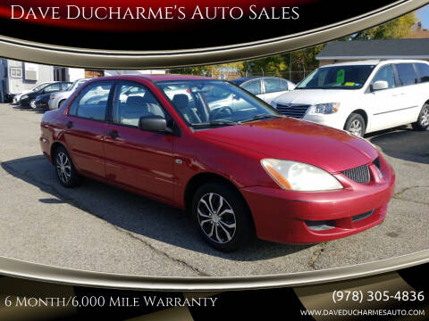 2004 Mitsubishi Lancer for sale at Dave Ducharme's Auto Sales in Lowell MA